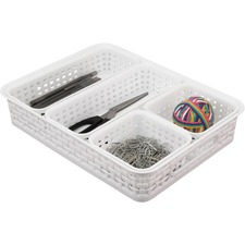 AVT37818 - Advantus Plastic Weave Bin Set
