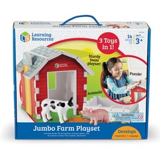 LRN LER0831 Learning Res. Jumbo Farm Playset LRNLER0831
