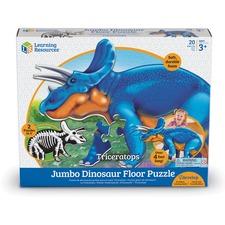 LRN LER2857 Learning Res. Triceratops Jumbo Dinosaur Puzzle LRNLER2857