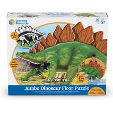 LRN LER2858 Learning Res. Stegasaurus Jumbo Dinosaur Puzzle LRNLER2858