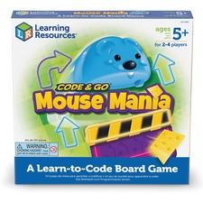 LRN LER2863 Learning Res. Code & Go Mouse Mania Board Game LRNLER2863