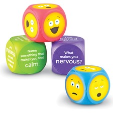 LRN LER7289 Learning Res. Soft Foam Emoji Cubes Set LRNLER7289