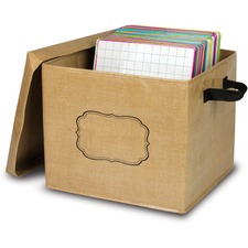 TCR 20834 Teacher Created Res. Burlap Storage Box TCR20834