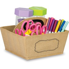 TCR 20836 Teacher Created Res. Burlap Storage Caddy TCR20836