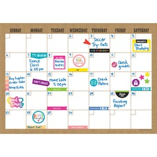 TCR 77350 Teacher Created Res. Clingy Burlap Calendar Set TCR77350