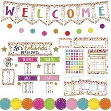 TCR 9460 Teacher Created Res. Confetti Decor Bulletin Set TCR9460