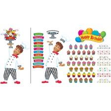 TEP 8350 Trend Happy Birthday Bake Shop Bulletin Board Set TEP8350