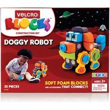 VEK 70190 VELCRO Brand Soft Blocks Doggy Robot Set VEK70190