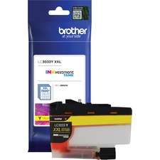 Brother INKvestment LC3033YS Original Ink Cartridge - Yellow - Inkjet - Super High Yield - 1500 Pages - 1 Each