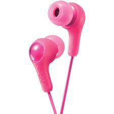 JVC Inner Ear Headphones - Stereo - Pink - Mini-phone (3.5mm) - Wired - 16 Ohm - 10 Hz 20 kHz - Nickel Plated Connector - Earbud - Binaural - In-ear - 3.3 ft Cable