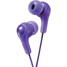 JVC Inner Ear Headphones - Stereo - Violet - Mini-phone (3.5mm) - Wired - 16 Ohm - 10 Hz 20 kHz - Nickel Plated Connector - Earbud - Binaural - In-ear - 3.3 ft Cable