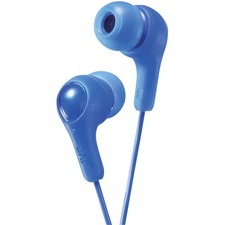 JVC Inner Ear Headphones - Stereo - Blue - Mini-phone (3.5mm) - Wired - 16 Ohm - 10 Hz 20 kHz - Nickel Plated Connector - Earbud - Binaural - In-ear - 3.3 ft Cable