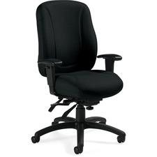 Global Multi-tilt High-back Chair - High Back - 5-star Base - Armrest