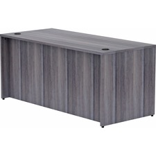 """Lorell Weathered Charcoal Laminate Desk Shell - 66"""" x 30"""" x 29.5"""" , 1"""" Top - Material: Polyvinyl Chloride (PVC) Edge - Finish: Laminate Top, Weathered Charcoal Top"""