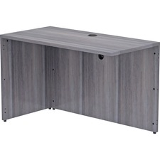 """Lorell Weathered Charcoal Laminate Desking - 48"""" x 24"""" x 29.5"""" , 1"""" Top - Material: Polyvinyl Chloride (PVC) Edge - Finish: Laminate Top, Weathered Charcoal Top"""