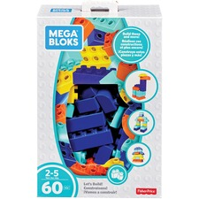 MBL FLY43 Mega Bloks Let's Build! Building Blocks Set MBLFLY43