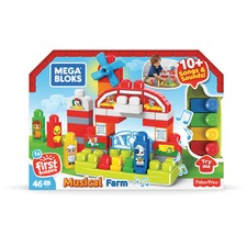 MBL GCT50 Mega Bloks First Builders Musical Farm MBLGCT50