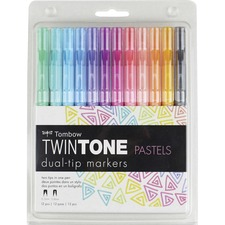 TOM 61501 Tombow TwinTone Brights Dual-tip Marker Set TOM61501