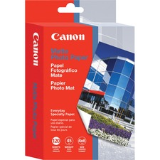 "Canon MP-101 Photo Paper - 4"" x 6"" - 170 g/m² Grammage - Matte - 20 Sheet - Bright White"