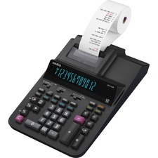 """Casio DR-120R Printing Calculator - Dual Color Print - 3.5 lps - Two-color Printing, Independent Memory, Plastic Key, Large Display, Key Rollover - 12 Digits - 4.4"""" x 8.1"""" x 14.8"""" - Black - Desktop - 1 Each"""