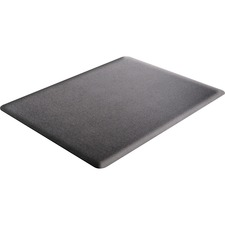 "Deflecto Ergonomic Sit-Stand Chair Mat - Workstation - 53"" (1346.20 mm) Length x 45"" (1143 mm) Width x 0.38"" (9.53 mm) Thickness - Rectangle - Foam - Black"