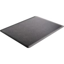 "Deflecto Ergonomic Sit-Stand Chair Mat - Workstation - 60"" (1524 mm) Length x 46"" (1168.40 mm) Width x 0.38"" (9.53 mm) Thickness - Rectangle - Foam - Black"