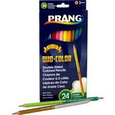 Prang Duo Colored Pencil - 3 mm Lead Diameter - Wood Barrel - 1 / Set
