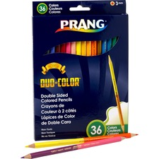 Prang Duo Colored Pencil - 3 mm Lead Diameter - Fine Point - 18 / Pack