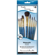 Daler-Rowney Simply Simmons Paint Brush - 10 Brush(es) - Assorted, Assorted