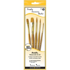 Daler-Rowney Simply Simmons Paint Brush - 5 Brush(es) - Assorted, Assorted