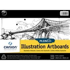 """Canson Plein Air Illustration Art Board Pad - 10 Sheets - 20 Pages - Glue - 150 lb Basis Weight - 9"""" x 12"""" - Acid-free, Heavyweight Cover - 1Each"""
