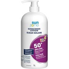 SunZone Sunscreen Lotion Pump - Lotion - 1 L - Pump Bottle - SPF 50 - Moisturising, Water Resistant, Sweat Proof, Hypoallergenic