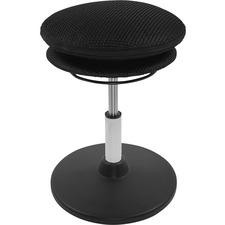 Evolution Chair Wobble Stool - Black, Silver - 1 Each