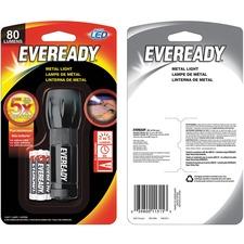 Eveready Compact LED Metal Flashlight - AAA - Metal - Black