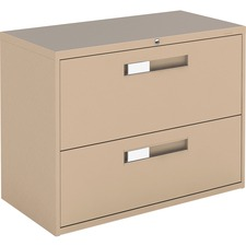 """Global 9300 Series Centre Pull Lateral File - 2-Drawer - 18"""" x 36"""" x 27.1"""" - 2 x Drawer(s) for File - Letter, Legal, A4 - Lateral - Hanging Bar, Interlocking, Anti-tip, Pull Handle, Ball-bearing Suspension, Leveling Glide, Lockable, Durable, Reinforced - Nevada - Steel"""