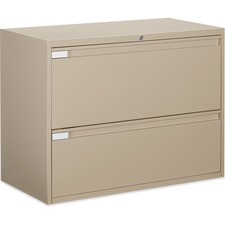 """Global 9300 Series Full Pull Lateral File - 2-Drawer - 18"""" x 36"""" x 27.1"""" - 2 x Drawer(s) for File - Letter, Legal, A4 - Lateral - Pull Handle, Durable, Hanging Bar, Interlocking, Anti-tip, Leveling Glide, Lockable, Ball-bearing Suspension, Welded - Nevada"""
