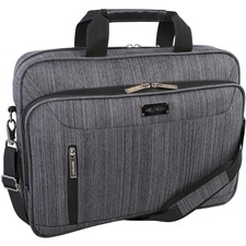 """Holiday Carrying Case (Briefcase) for 17.3"""" Notebook - Gray - Bump Resistant, Scratch Resistant - Dobby Polytex - Handle, Shoulder Strap - 12"""" (304.80 mm) Height x 4"""" (101.60 mm) Width x 15.50"""" (393.70 mm) Depth"""