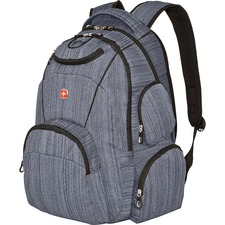 """Swissgear Carrying Case (Backpack) for 15.6"""" Notebook - Gray - Polyester Woven - Shoulder Strap - 19.25"""" (488.95 mm) Height x 12.63"""" (320.68 mm) Width x 6.69"""" (169.88 mm) Depth"""
