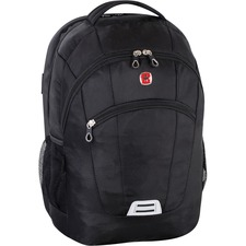 "Swissgear Carrying Case (Backpack) for 17.3"" Notebook - Black - 1680D Polyester, Mesh Pocket - Handle, Shoulder Strap"