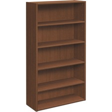 "HON Foundation Five-shelf Laminate Bookcase - 32.1"" x 13.8"" x 65.4"" - 5 Shelve(s) - Square Edge - Finish: Shaker Cherry"