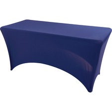 Iceberg Stretchable Fitted Table Cover - 1 Each - Fabric, Polyester, Spandex - Blue