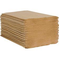"Esteem 1-ply Multi-fold Paper Towels - 1 Ply - Multifold - 9"" x 9.5"" - Brown - Paper - Embossed - For Multipurpose - 334 Per Pack - 12 / Carton"