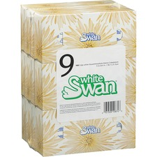 White Swan Facial Tissue - 2 Ply - Multi - Soft, Comfortable, Strong, Absorbent - For Food Service, Hotel, School, Office - 100 Per Pack - 9 / Pack