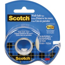 """Scotch Invisible Tape - 18 yd (16.5 m) Length x 0.75"""" (19 mm) Width - Dispenser Included - Handheld Dispenser - 1 Each - Transparent, Clear"""