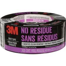 "3M Duct Tape - 25 yd (22.9 m) Length x 1.88"" (47.8 mm) Width - 1 Each - Gray"