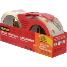 """Scotch Packaging Tape - 54.7 yd (50 m) Length x 1.89"""" (48 mm) Width - Dispenser Included - 1 / Pack - Clear"""