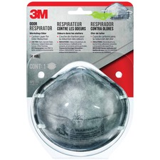 3M Workshop Odor Respirator - Recommended for: Woodworking, Workshop, Oil & Gas, Deck - Filter, Comfortable, Breathable - Odor, Respiratory Protection - Carbon Layer - Charcoal - 1 Each