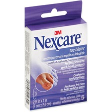 """Nexcare Toe Blister Comfort Cushion - 2.75"""" (69.85 mm) x 1"""" (25.40 mm) - 5/Pack - 5 Per Pack - Clear"""