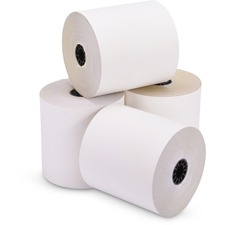 """ICONEX Cash Register Roll - White/Canary - 3"""" x 100 ft - Clear - 50 / Box"""