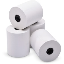 """ICONEX Thermal Cash Register Roll - 3"""" x 230 ft - Clear - 50 / Box - White"""